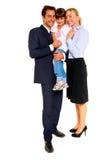 Οικογένεια με ένα παιδί στοκ εικόνες με δικαίωμα ελεύθερης χρήσης