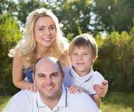 Οικογένεια με το παιδί στοκ εικόνες