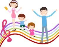 Οικογένεια με δύο παιδιά Στοκ εικόνες με δικαίωμα ελεύθερης χρήσης