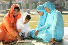 οικογένεια μουσουλμάνος στοκ φωτογραφία