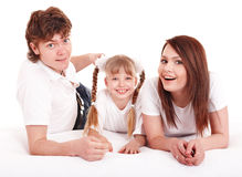 οικογένεια παιδιών ευτ&ups Στοκ Φωτογραφία