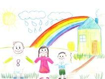 οικογένεια παιδιών ευτ&ups Στοκ φωτογραφίες με δικαίωμα ελεύθερης χρήσης