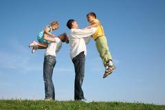 οικογένεια παιδιών wih Στοκ Εικόνα