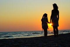 οικογένεια παραλιών Στοκ φωτογραφία με δικαίωμα ελεύθερης χρήσης
