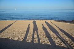 οικογένεια παραλιών Στοκ Εικόνα