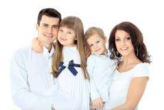 Οικογένεια που απομονώνεται στοκ εικόνα
