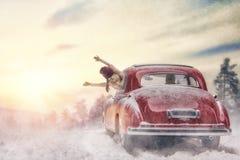 Οικογένεια που απολαμβάνει το οδικό ταξίδι Στοκ φωτογραφία με δικαίωμα ελεύθερης χρήσης