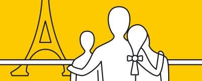 Οικογένεια που επισκέπτεται στις διακοπές Στοκ φωτογραφία με δικαίωμα ελεύθερης χρήσης