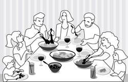 Οικογένεια που στο επίπεδο σχέδιο Απεικόνιση αποθεμάτων
