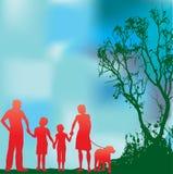 οικογένεια πράσινη απεικόνιση αποθεμάτων