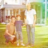 Οικογένεια σε τρεις γενεές Στοκ Εικόνα
