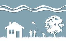 Οικογένεια σκιαγραφιών Στοκ εικόνες με δικαίωμα ελεύθερης χρήσης