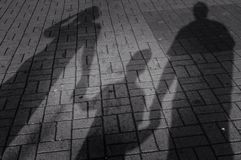 Οικογένεια σκιών Στοκ εικόνες με δικαίωμα ελεύθερης χρήσης