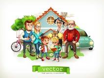 Οικογένεια Σπίτι τρισδιάστατο διάνυσμα Στοκ φωτογραφία με δικαίωμα ελεύθερης χρήσης