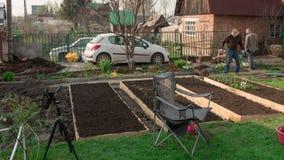 Οικογένεια στον κήπο, timelapse απόθεμα βίντεο