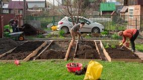 Οικογένεια στον κήπο, timelapse φιλμ μικρού μήκους