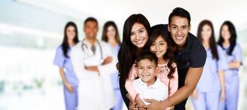 Οικογένεια στο νοσοκομείο Στοκ Φωτογραφία