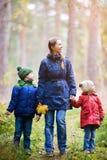 Οικογένεια στο πάρκο φθινοπώρου στοκ φωτογραφίες με δικαίωμα ελεύθερης χρήσης