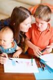 οικογένεια σχεδίων Στοκ φωτογραφία με δικαίωμα ελεύθερης χρήσης