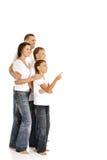 οικογένεια τέσσερα ευ&tau Στοκ εικόνα με δικαίωμα ελεύθερης χρήσης