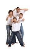 οικογένεια τέσσερα ευ&tau Στοκ φωτογραφίες με δικαίωμα ελεύθερης χρήσης
