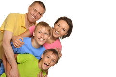 οικογένεια τέσσερα ευ&tau Στοκ Εικόνες