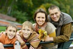 οικογένεια τέσσερα ευ&tau Στοκ Φωτογραφία