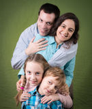 οικογένεια τέσσερα ευ&tau Στοκ φωτογραφία με δικαίωμα ελεύθερης χρήσης