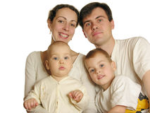 οικογένεια τέσσερα Στοκ Εικόνα