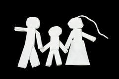 Οικογένεια, τέχνη από τους ιστούς Στοκ Εικόνες