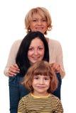 Οικογένεια τρία γενεά Στοκ Εικόνες