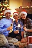 οικογένεια τρία Στοκ εικόνες με δικαίωμα ελεύθερης χρήσης
