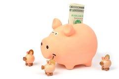 οικογένεια τραπεζών piggy Στοκ Εικόνες