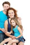Οικογένεια τριών Στοκ εικόνα με δικαίωμα ελεύθερης χρήσης