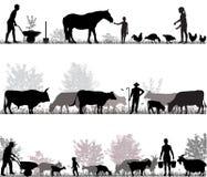 Οικογένεια των αγροτών Απεικόνιση αποθεμάτων