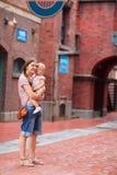 οικογένεια υπαίθρια Στοκ Φωτογραφία