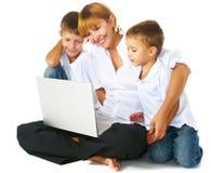 οικογένεια υπολογιστ Στοκ Εικόνα