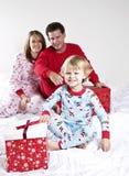οικογένεια Χριστουγένν&o Στοκ εικόνες με δικαίωμα ελεύθερης χρήσης