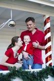 οικογένεια Χριστουγένν&o Στοκ Φωτογραφίες