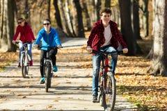 οικογένεια Biking Στοκ εικόνα με δικαίωμα ελεύθερης χρήσης