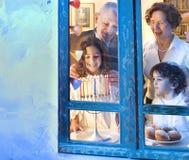 Οικογένεια Hannuka Στοκ φωτογραφία με δικαίωμα ελεύθερης χρήσης