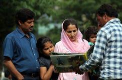 οικογένεια kashmiri Στοκ Φωτογραφίες