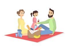 Οικογένεια picnic ελεύθερη απεικόνιση δικαιώματος