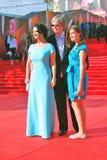 Οικογένεια Strizhenovs στο φεστιβάλ ταινιών της Μόσχας Στοκ Εικόνες