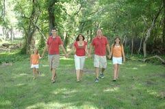 οικογένεια strolling στοκ εικόνες