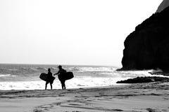 Οικογένεια Surfers στοκ εικόνα