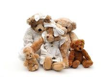 οικογένεια teddies Στοκ εικόνα με δικαίωμα ελεύθερης χρήσης