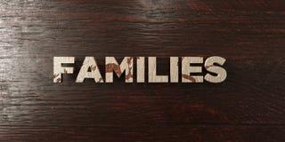 Οικογένειες - βρώμικος ξύλινος τίτλος στο σφένδαμνο - τρισδιάστατο δικαίωμα ελεύθερη εικόνα αποθεμάτων ελεύθερη απεικόνιση δικαιώματος