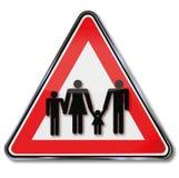 Οικογένειες και οικογενειακές πολιτικές διανυσματική απεικόνιση
