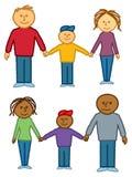 οικογένειες κινούμενων σχεδίων ελεύθερη απεικόνιση δικαιώματος